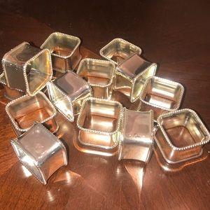 14 silver napkin rings